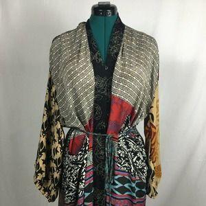Guru for Life 100% Silk Upcycled Kimono One Size